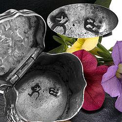 Antiek zilver lodereindoosje Schoonhoven 1803 mooie afbeeldingen