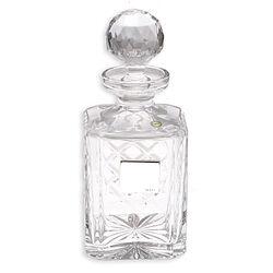 Kristallen Whisky Karaf Met Zilver Graveerplaatje