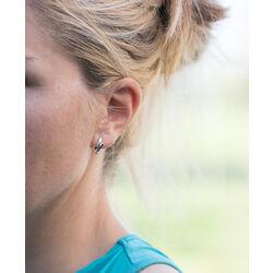 Gouden oorbellen bicolor