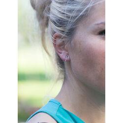 Gouden oorbellen saffier robijn smaragd zirkonia