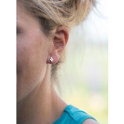 Gouden oorbellen bicolor met diamant
