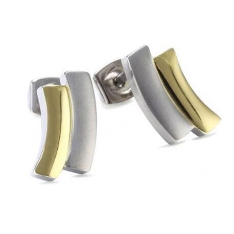 titanium oorstekers bicolor boccia 0561-02