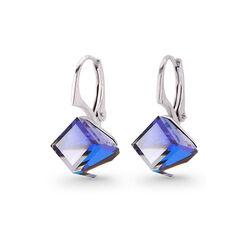 Spark Zilveren Cube Oorbellen Bermuda Blue