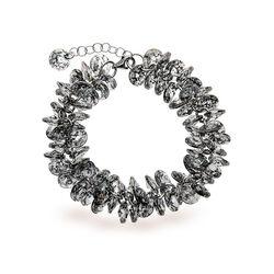Spark Zilveren Frou Frou Armband Black Patina
