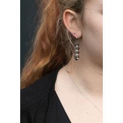 Spark Frou Frou Earrings Black Patina