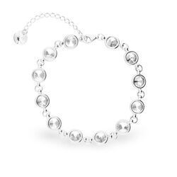 Spark Zilver Tiny Bonbon Bracelet Crystal