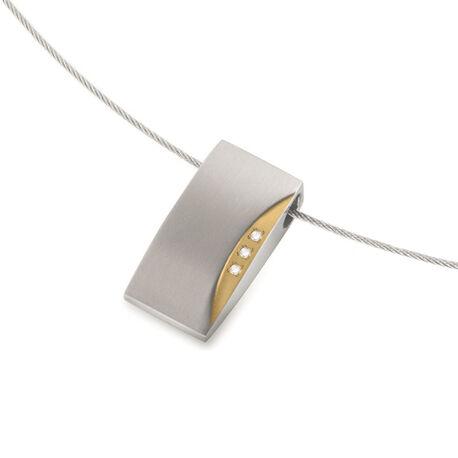 Boccia Hanger Bicolor Met Diamant 0793-04