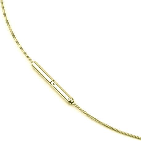 Boccia Titanium Collier Verguld 0802-02
