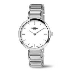 Boccia Titanium Horloge Witte Wijzerplaat 3252-01