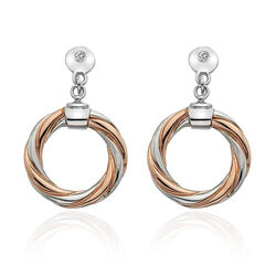 Hot Diamonds oorbellen Breeze bicolor DE474