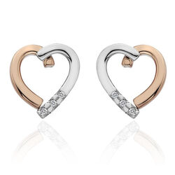 Hot Diamonds Oorstekers Hart Bicolor De471
