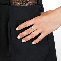 Zilveren ring diamantje Hot Diamonds