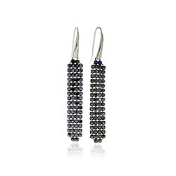 Spark Zilveren Classy Earrings Jet Black