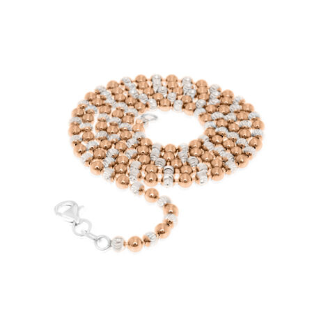 Rosé plated beads collier MY iMenso 60cm