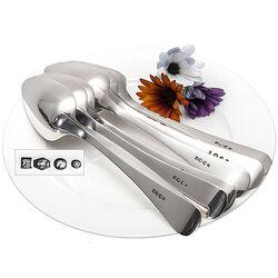 6 Zilveren Dinerlepels Parelrand