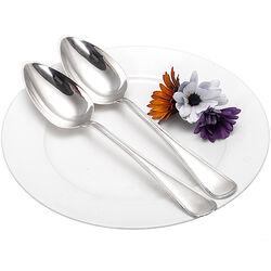 Stel Zilveren Dinerlepels Dubbelrondfilet