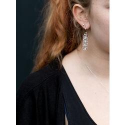 Zilveren oorbellen met swarovski crystal Frou Frou van Spark