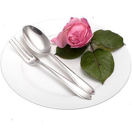 Zilver dessertcouvert puntfilet dubbelzijdig