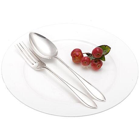 Zilveren Dessertcouvert Puntfilet Pluut
