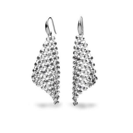 Zilver oorbellen Spark Small chic Crystal