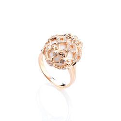 Tatiana Faberge Rose Ring Zirkoon Wit Agaat