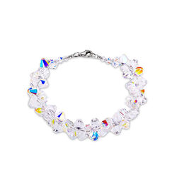 Spark Zilveren Bicone Bracelet