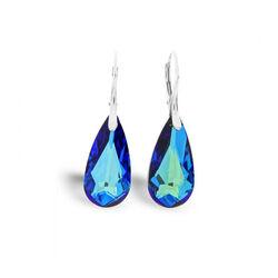 Spark Zilveren Teardrop Oorbellen Bermuda Blue