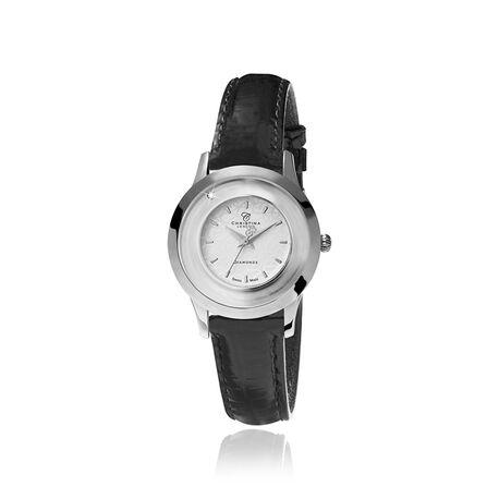 Christina stalen dames horloge Zilver 300swbl