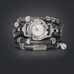 Christina Watch Cord Set Grijs Gunmetal