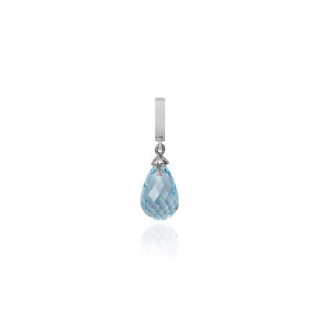 Christina charms zilver blauw topaas
