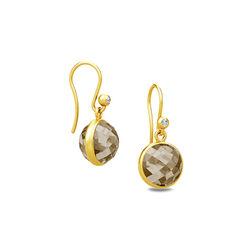 Julie Sandlau verguld zilveren oorbellen rook crystal