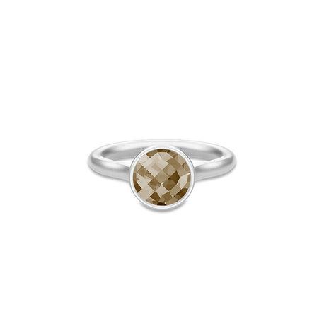 Julie Sandlau Zilveren Sweet Pea Ring Rook Crystal
