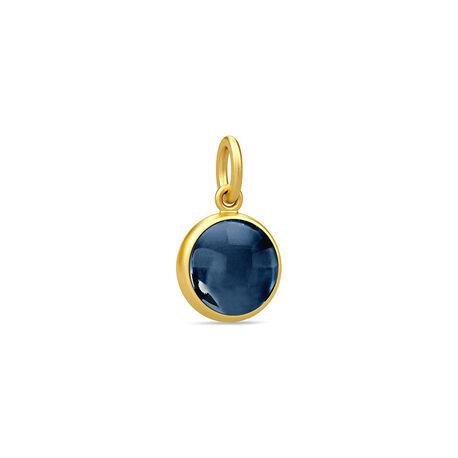 Verguld zilver hanger blauw kristal Julie Sandlau