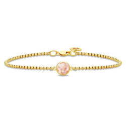 Verguld armbandje roze zirkonia Julie Sandlau