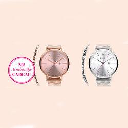 Rosé plated horloge Zinzi Retro met paars ZIW405P