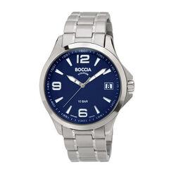 Titanium heren horloge blauwe wijzerplaat