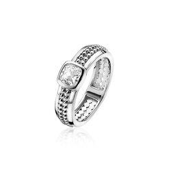 Zinzi Zilveren Ring Bolletjes Zirkonia Zir1370