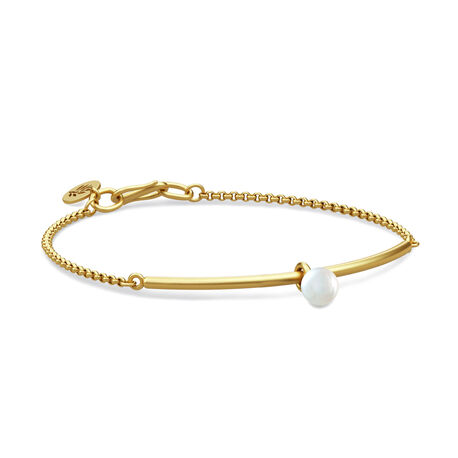 Julie Sandlau Verguld Zilveren Parel Armband