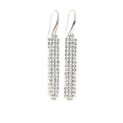 zilver oorbellen Spark classy Crystal