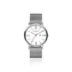 Zinzi Roman Horloge Mesh Band Witte Wijzerplaat Ziw506m