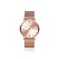 Zinzi Roman Horloge Rose Verguld Mesh Ziw505m