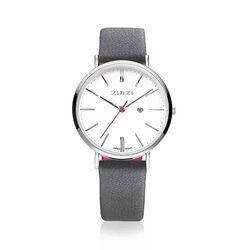 Zinzi Retro Horloge Grijze Band Ziw406g