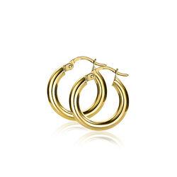Zinzi Gold creolen ronde buis Zgo131