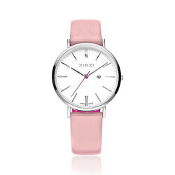 Zinzi Retro Horloge Zacht Roze Band Ziw406r