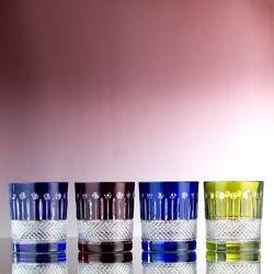 2 whiskeyglazen rood kristal faberge