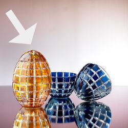 Tatiana Faberge Kristallen Egg Box Oranje