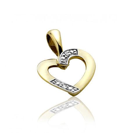 Gouden hanger hart met diamant Zinzi gold