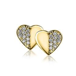 Gouden oorbellen hart van Zinzi gold