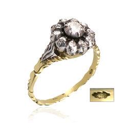 Occasion Gouden Rozetring Met Roosdiamant
