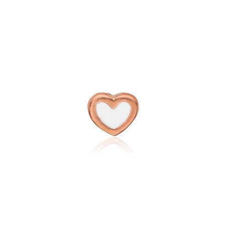 Christina collect element roséverguld hart  wit emaille